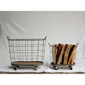Metal Rolling Laundry Baskets