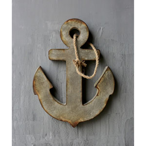 Zinc Metal Anchor with Rope Hanger