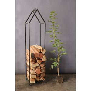 Metal House Shaped Fire Wood Holder