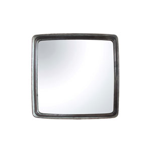 Square 23.5 In. Iron Framed Mirror
