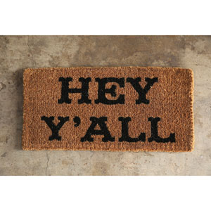 Hey Yall Natural Coir Doormat
