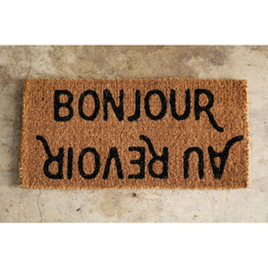Bonjour Au Revior Natural Coir Doormat