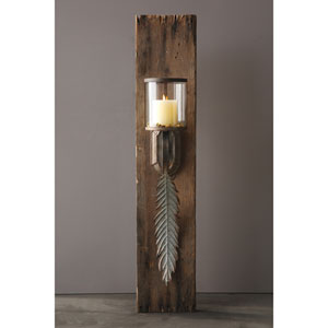 Leaf Glass and Metal Wall Sconce
