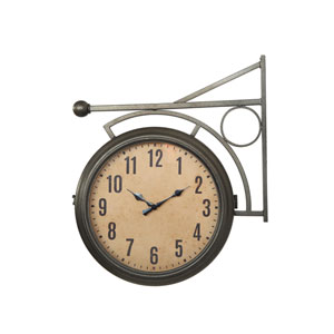 Metal Two-Sided Station Clock