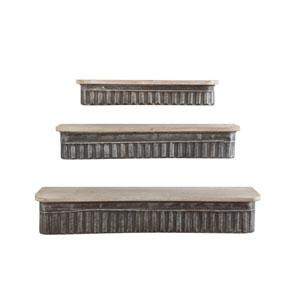 Metal and Wood Shelves