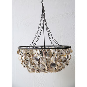 Oyster Shell Two-Light Pendant Chandelier