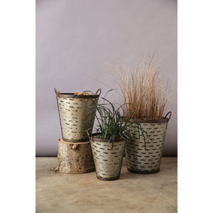 Iron Olive Buckets with Handle