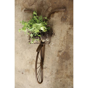 Iron Bike Shaped Wall Décor with Basket