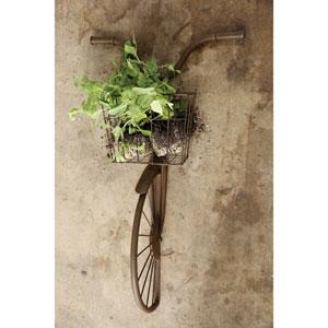 Iron Bike Shaped Wall Décor with Basket