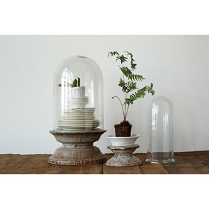 Tall Zinc Glass Cloche