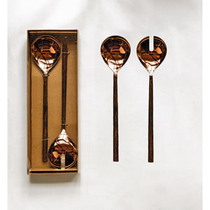 Copper Salad Servers in Box