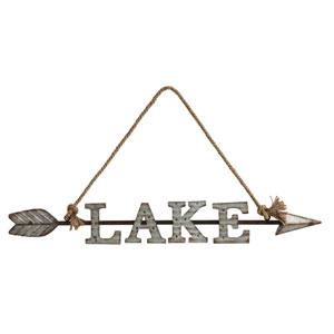 Arrow and Lake Wall Décor