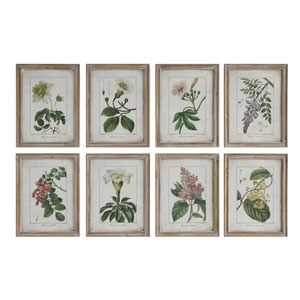 Wood Flower 18 In. Wall Plaque, Set of Eight