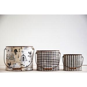 Tin Buckets, Set of Three