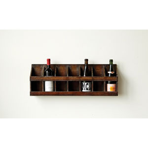 Fir Wood Wall Wine Holder