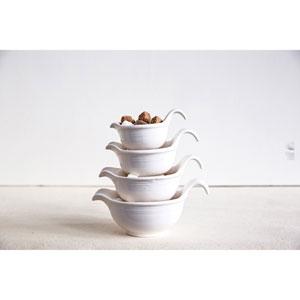 White Prep Bowls, Set of Four