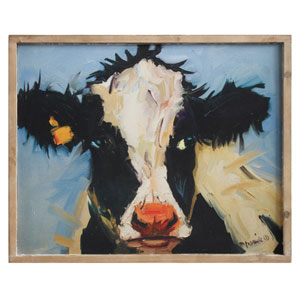 Cow 20 In. Wood Wall Plaque