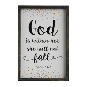 God is Within Her… Wood Framed Wall Plaque