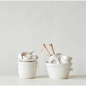 White Vintage Utensil Pot