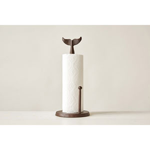 Cast Iron Whale Tail Paper Towel Holder