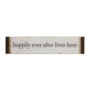 Happily Ever After Lives Here Wall Décor
