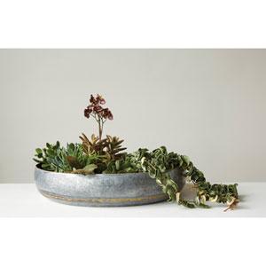 Round Decorative Galvanized Iron Bowl