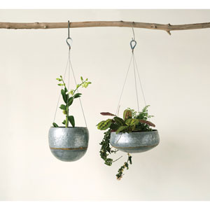 Small Galvanized Iron Hanging Planter