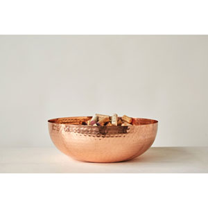 Copper Round Metal Bowl