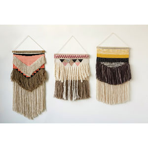 Wool and Cotton Woven Wall Hanging