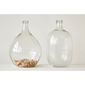 Large Clear Glass Round Glass Bottle