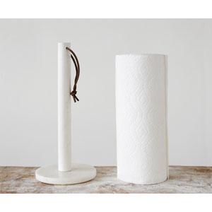 White Marble Paper Towel Holder