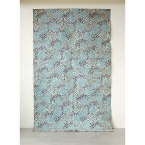 Blue Decorator Paper with Floral Pattern