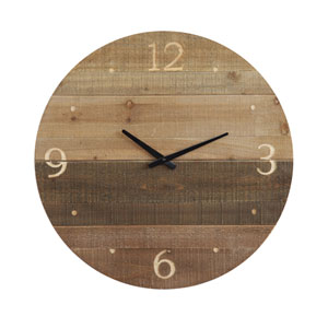 Laser Cut Wood Round Wall Clock