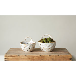 Reactive Cream Colander, Set of Two