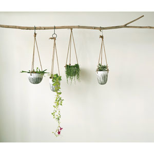 Heavily Distressed Hanging Terracotta Planter