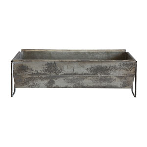 Distressed Metal Trough Container