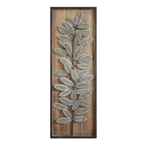 Embossed Metal Leaf Wall Décor