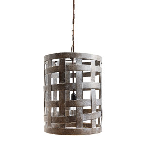 Wood Basket Cage Pendant Lamp