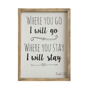 Where You Go 10 x 14 In. Framed Wall Decor