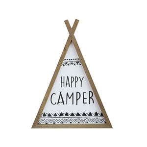 Happy Camper Wood Teepee Wall Décor