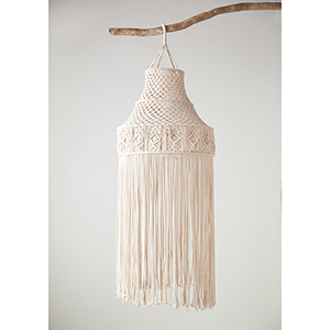 Cotton 20 x 58 In. Macrame Hanging Canopy