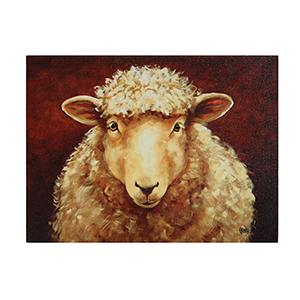 Sheep 18 x 13.5 In. Canvas Wall Art