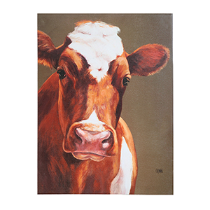 Cow 24 x 32 In. Canvas Wall Art