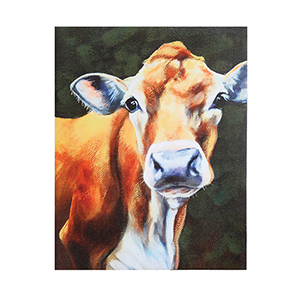 Cow 22 x 28 In. Canvas Wall Art