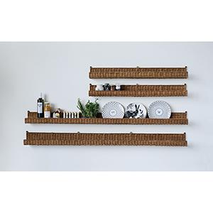 Rattan 60 In. Wall Shelf
