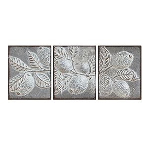 Metal Lemon Branches Wall Décor, Set of Three
