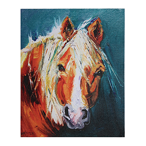 Horse 28 In. Canvas Wall Art