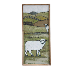 Sheep on a Hill Canvas Wall Décor