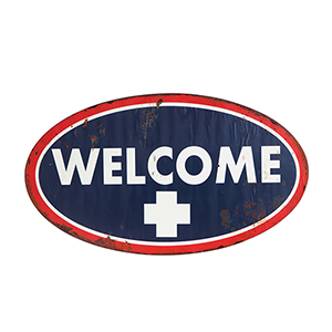 Welcome Metal Wall Décor