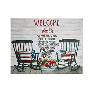 Welcome to the Porch Tin Wall Décor